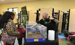 A Winton Hills Academy learns about animals during a Family Engagement Night hosted by the 21st Century Program.